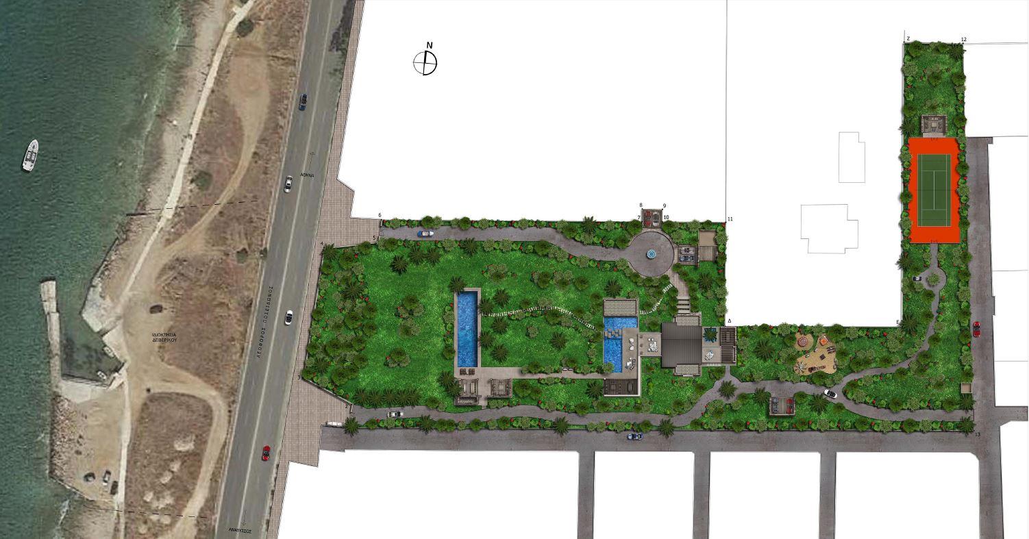 New Ultimate villa in Saronida - aerial view