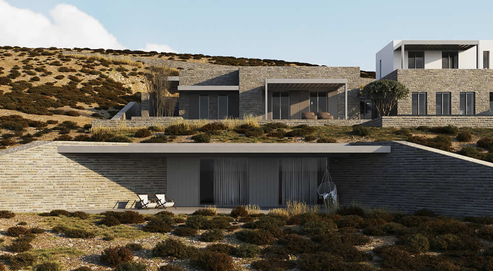 Property in Elia, Mykonos, designed by ISV architectural office